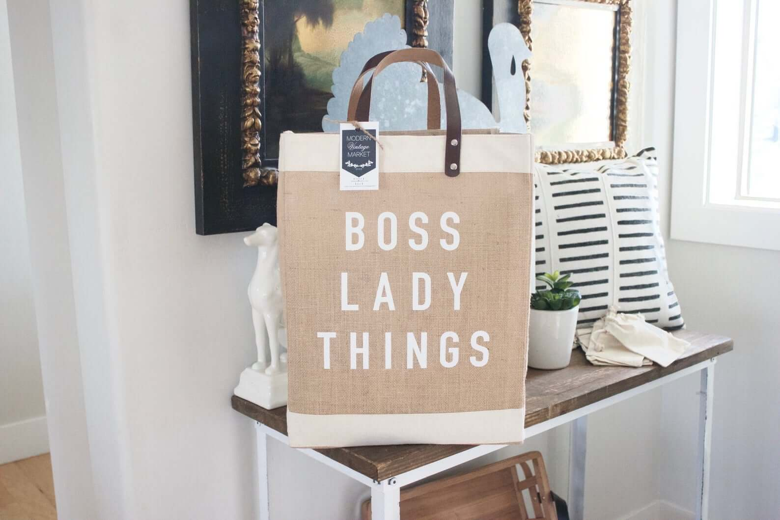 Boss Lady Jute Bag