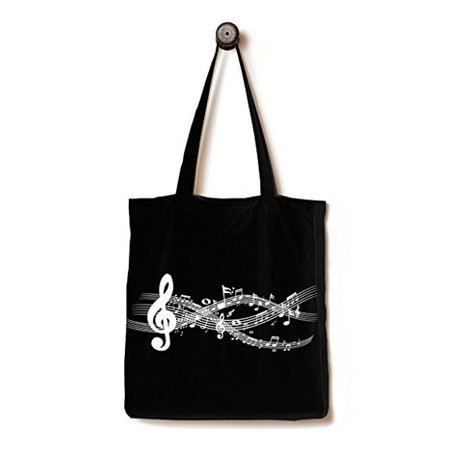 Black cotton bag with gusset
