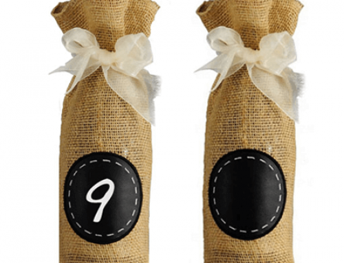 Burlap wine bottle packaging bag