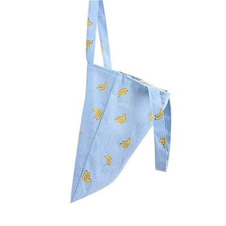 Canvas shopping bag without gusset