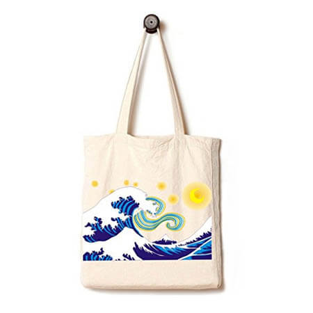 Canvas tote bag with gusset customize