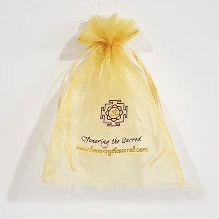 Cheap printed organza bags with ribbon