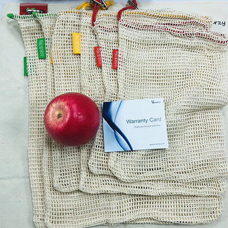 Cotton mesh bags for fruits and vegetables