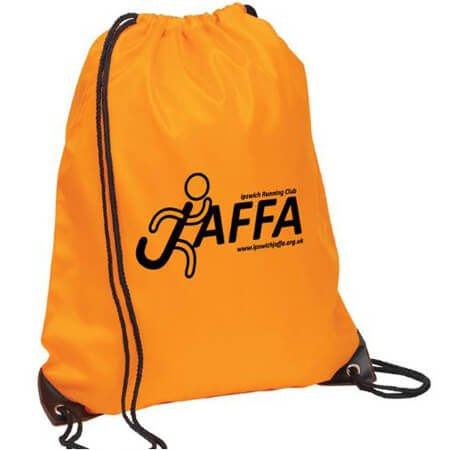 Nylon polyester drawstring bag for sports