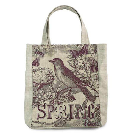Promotional canvas tote printed