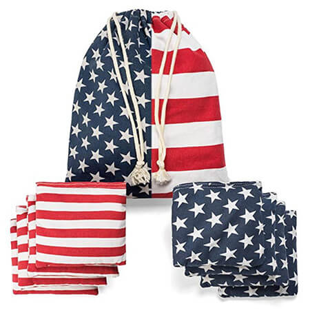 Regulation bean bags with portable tote bag
