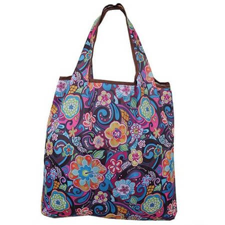 Shoulder printing eco bag for shopping