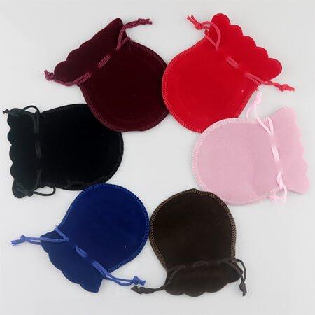 Velvet drawstring bell pouch