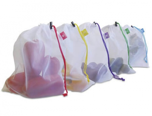 Washable mesh bag for grocery shopping