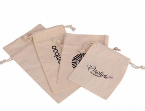 Nature cotton canvas bag with logo printed