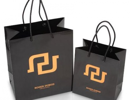 Luxury hot stamping gold foil paper bag