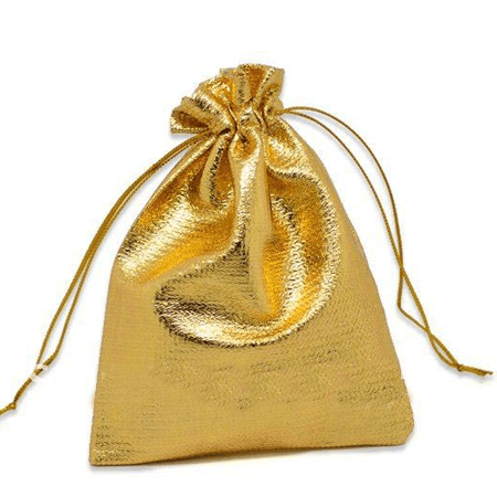 Tone satin gift bags with drawstring